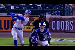 【MLB】ドジャース ザック・マキンストリーのランニングホームラン!! vs.ロッキーズ 4.4