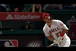 【SPOZONE MLB】<br /> 日本時間6日に行われたアストロズ戦に出場したエンゼルスのマイク・トラウトが今シーズン初アーチを記録。
