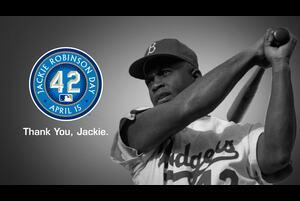 【SPOZONE MLB】<br /> 初の黒人選手ジャッキー・ロビンソンの功績をたたえる「ジャッキー・ロビンソン・デー」が開催され、各地で祝典や関連行事を行われた。