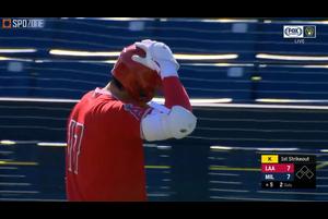 【MLB】エンゼルス 大谷翔平の第3打席は空振り三振 vs.ブリュワーズ 3.9