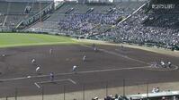 【センバツ高校野球】東海大相模 - 明豊 1回裏 東海大相模・小島 大河の打席。一死三塁、サードへのスクイズで同点。