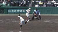 【センバツ高校野球】具志川商 - 福岡大大濠 11回表 福岡大大濠・友納 周哉の打席。一死三塁、ライトへのタイムリーヒットで一点追加。