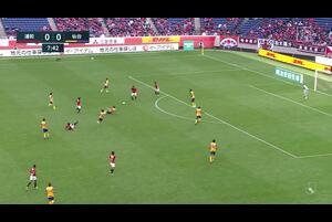 J1リーグ第23節浦和レッズvsベガルタ仙台。前半23分、浦和レッズ・長澤和輝のゴールシーンです。