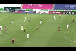 J1リーグ第8節 神戸vs.大分。前半11分、神戸・古橋亨梧のゴールシーンです。<br /> 試合詳細:https://soccer.yahoo.co.jp/jleague/category/j1/game/2021040708/summary