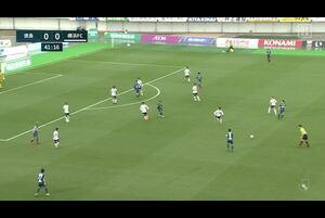 J1リーグ第6節 徳島vs.横浜FC。前半42分、徳島・オウンゴールで得点シーンです。<br /> 試合詳細:https://soccer.yahoo.co.jp/jleague/category/j1/game/2021032103/summary
