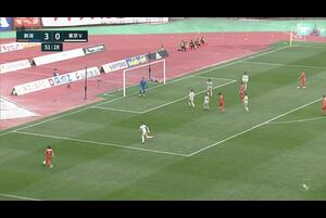 J2リーグ第5節 新潟vs.東京V。後半7分、新潟・島田譲のゴールシーンです。<br /> 試合詳細:https://soccer.yahoo.co.jp/jleague/category/j2/game/2021032710/summary
