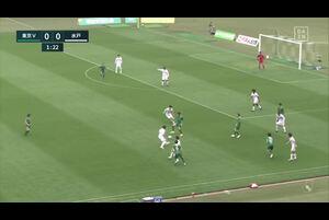 J2リーグ第6節 東京Vvs.水戸。前半2分、東京V・佐藤凌我のゴールシーンです。<br /> 試合詳細:https://soccer.yahoo.co.jp/jleague/category/j2/game/2021040409/summary