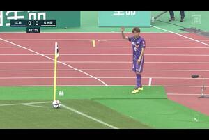 J1リーグ第7節 広島vs.G大阪。前半43分、G大阪、ゴール前のディフェンスシーンです。<br /> 試合詳細:https://soccer.yahoo.co.jp/jleague/category/j1/game/2021040305/summary