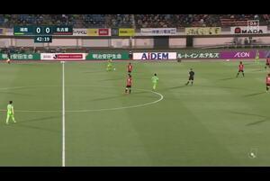 J1リーグ第8節 湘南vs.名古屋。前半43分、湘南・三幸秀稔の退場シーンです。<br /> 試合詳細:https://soccer.yahoo.co.jp/jleague/category/j1/game/2021040705/summary