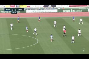 J1リーグ第11節 横浜FMvs.横浜FC。前半28分、横浜FM・オナイウ阿道のPK獲得のシーンです。<br /> 試合詳細:https://soccer.yahoo.co.jp/jleague/category/j1/game/2021042403/summary