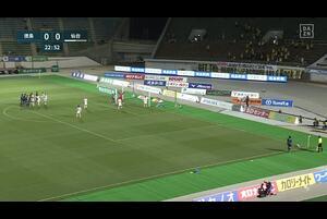 J1リーグ第8節 徳島vs.仙台。前半24分、徳島・岸本武流のゴールシーンです。<br /> 試合詳細:https://soccer.yahoo.co.jp/jleague/category/j1/game/2021040709/summary