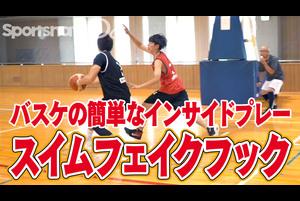 【バスケ】インサイドプレー「スイムフェイクフック」のポイント