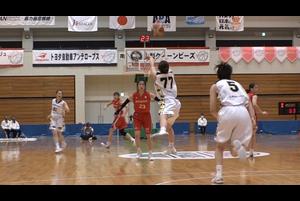 【女子バスケ Wリーグ】山梨QBルーキー山本由真 が超ロングブザービーターを決める