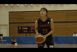 【女子バスケ Wリーグ】トヨタ自動車 山本麻衣  3P×3本とドライブから得点を決めチームの4連勝に貢献