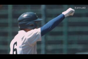 【甲子園交流試合】星稜 - 履正社 7回表 履正社・中原 雄也の打席。二死二塁、レフトへのタイムリーヒットで一点追加。