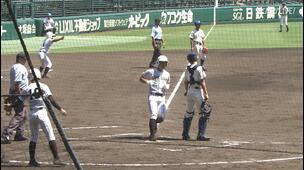 【甲子園交流試合】国士舘 - 磐城 3回裏 国士舘・門田 朋也の打席。無死一、三塁、悪送球の間に一点追加。