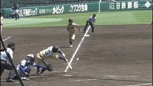 【甲子園交流試合】健大高崎 - 帯広農 3回表 帯広農・前田 愛都の打席。一死三塁、スクイズ成功で、一点追加。