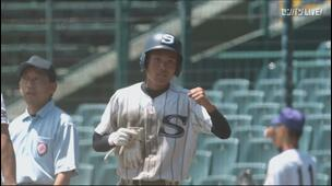 【甲子園交流試合】天理 - 広島新庄 8回表 広島新庄・大可 尭明の打席。一死三塁、レフトへのタイムリーヒットで一点追加。