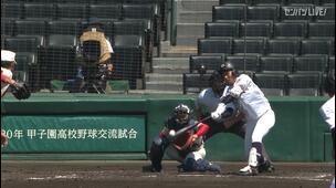 【甲子園交流試合】中京大中京 - 智弁学園 1回裏 中京大中京・南谷 雅貴の打席。一死一、二塁、センターへのタイムリーヒットでまたも追加点。