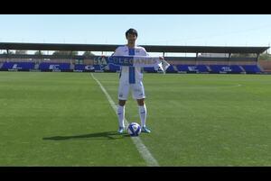 サッカー日本代表で活躍する柴崎岳が、ラ・リーガ2部レガネスへ移籍。現地で入団発表を行った。