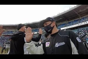 マリーンズ2021年初勝利の瞬間にカメラが接近【広報カメラ】