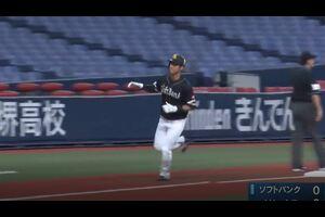 【ウエスタン・リーグ】上林の逆方向への先制ホームラン!