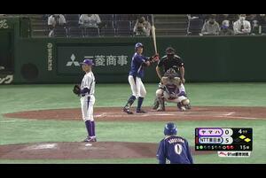 【都市対抗2020】4回裏 NTT東日本4番・火ノ浦がライトスタンド中段にたたき込んだ3ランホームラン