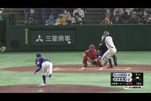 【都市対抗2020】日本新薬4番・福永 ライト前ヒット。二塁ランナーがホームを狙うがタッチアウト