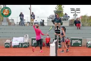 【マッチハイライト】日比野 菜緒 vs マルタ・コスチュク/全仏オープンテニス2020 1回戦