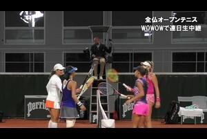 【マッチハイライト】土居 美咲&M.ニクレスク vs I.バラ&F.シュトーラ/全仏オープンテニス2020 ダブルス1回戦