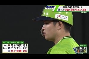 【ヤクルト】村上宗隆 ON超え最年少打点王へ トップと1差