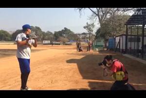 15歳カルロ・セイハスの投球練習