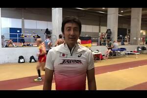 スペイン・マラガで開催された世界マスターズ陸上2018、男子400mリレー(45歳クラス)で金メダルを獲得した朝原宣治からのコメント。