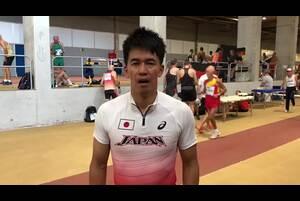 スペイン・マラガで開催された世界マスターズ陸上2018、男子400mリレー(45歳クラス)で金メダルを獲得した武井壮からのコメント。