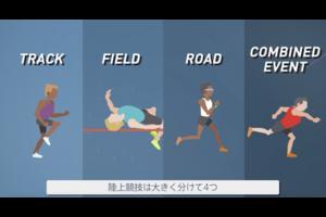 東京オリンピックで実施される陸上の紹介動画です。(動画提供:時事通信社)