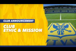STVVは、2020-21シーズン からのクラブルールおよびミッションを以下の通り決定いたしましたので、お知らせいたします。<br /> <br /> ・クラブルール<br />     1.【誠実】<br /> クラブに携わる全ての選手・スタッフは、クラブを応援してくれるサポーター・ファン、そしてクラブに関わる全ての人に対して誠実でなければならない。<br /> <br /> また、クラブ内の共に働く仲間達、そしてピッチ上で対戦する相手チームの選手やスタッフに対しても常にリスペクトの精神を持ち誠実に対応しなくてはならない。<br />  <br />      2.【献身】<br /> STVVに関わる全ての選手・スタッフは、在籍年数に関わらず、一秒(一瞬)たりともクラブへの貢献を忘れてはならない。己の利益よりもクラブの成功を心から喜べる、その献身の精神を我々は求めている。<br /> <br />      3. 【情熱】<br /> STVVの選手・スタッフの全ての源泉は情熱である。いかなる状況下においても、煮えたぎる情熱を持ち、立ち上がり、挑んでいくその姿こそ、真のカナリアスである。<br /> <br /> 詳細はこちら→ https://stvv.jp/news/20200808_2<br /> <br /> YouTube➡️https://www.youtube.com/シント=トロイデンVV <br /> 公式サイト➡️https://stvv.jp/<br /> Facebook➡️ https://www.facebook.com/STVVJP/<br /> Twitter ➡️https://twitter.com/STVV_JP