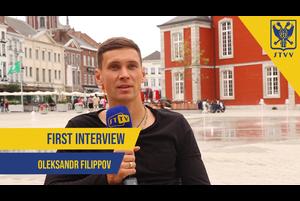 SFCデスナ・チェルニーヒウ(ウクライナ1部)から完全移籍で加入したオレクサンドル・フィリーポフ選手が練習後にインタビューに答えてくれました。