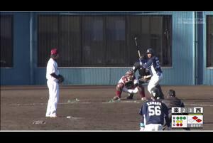 【8回表】愛斗、レフトへのタイムリーヒット! 11/28 楽天 VS 西武 フェニックスリーグ