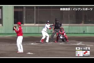 【2回裏】長岡秀樹、先制のタイムリーヒット! 11/28 ヤクルト VS 広島 フェニックスリーグ