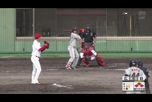 【9回表】伊藤海斗、タイムリー! 11/19広島 VS 巨人 フェニックスリーグ