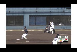 【5回裏】佐藤直樹、2点タイムリー3ベース! 11/17ソフトバンク VS ロッテ フェニックスリーグ