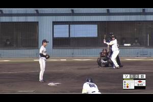 【4回裏】増田珠、センターへのタイムリーヒット! 11/28 ソフトバンク VS 巨人 フェニックスリーグ