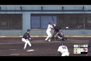 【4回裏】谷川原、センターへ2点タイムリーツーベース! 11/12ソvsロ フェニックスリーグ