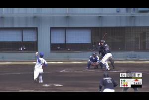 【2回表】佐藤優悟、先制のタイムリーツーベース! 宮崎アイビー11/19DeNAvsオリックス フェニックスリーグ