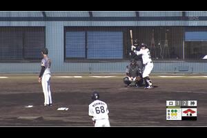 【4回裏】吉田、同点の犠牲フライを放つ 11/10ロッテVS阪神 フェニックスリーグ