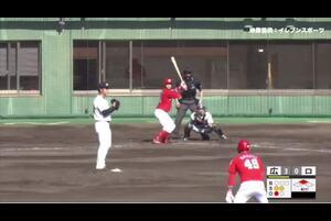 【4回表】小園、センターへのタイムリーツーベース! 11/15ロッテvs広島 フェニックスリーグ
