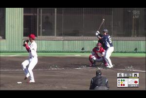 【2回表】石原貴規、盗塁阻止! 11/29 広島 vs 西武 フェニックスリーグ
