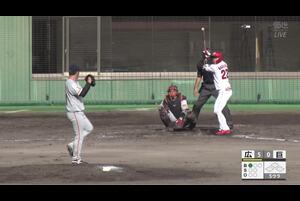 【5回裏】中村奨成、ホームラン! 11/19広島 VS 巨人 フェニックスリーグ