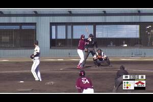 【8回表】小郷裕哉、レフトへの同点タイムリーヒット! 11/29 阪神 vs 楽天 フェニックスリーグ