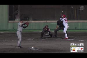【8回裏】田中優大、奪三振! 11/19広島 VS 巨人 フェニックスリーグ